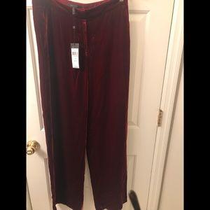 """BCBG Maxazria  """"Colton""""velvet pants"""